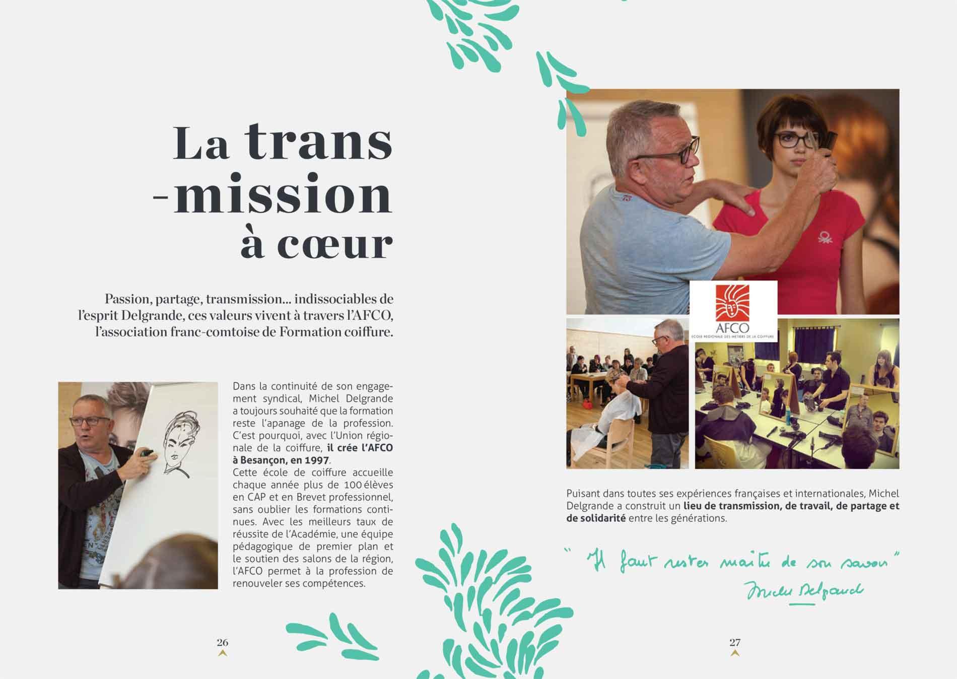Biographie d'entreprise - Michel Delgrande